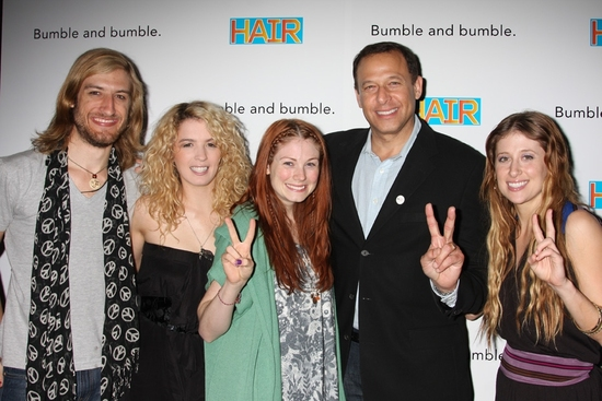 Bryce Ryness, Kacie Sheik, Allison Case, Peter Lichtenthal and Caissie Levy